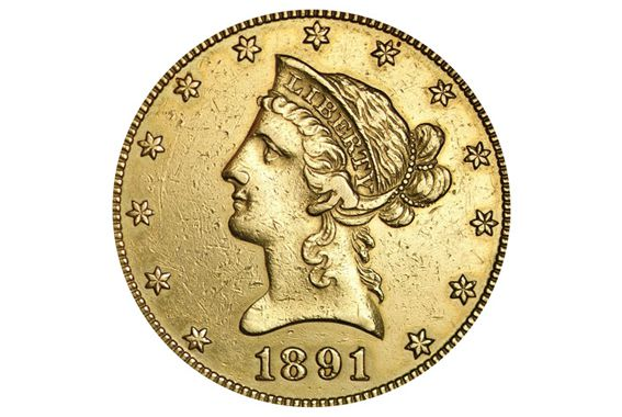 Ten Dollar Liberty Head Gold Coin