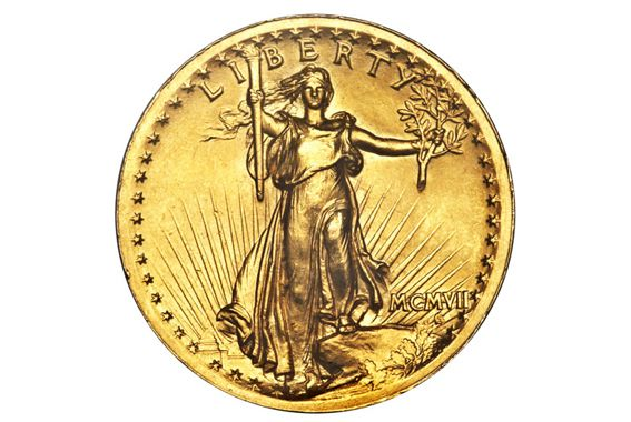 Twenty Dollar St Gaudens Gold Coin