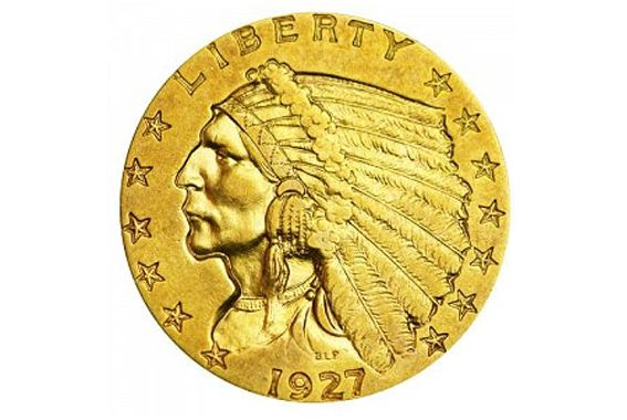 Two and a Half Dollar Indian Head Gold Coin