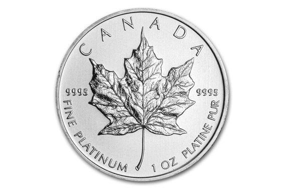 Platinum Canadian Maple Leaf